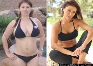 Ingrid Macher antes y despues
